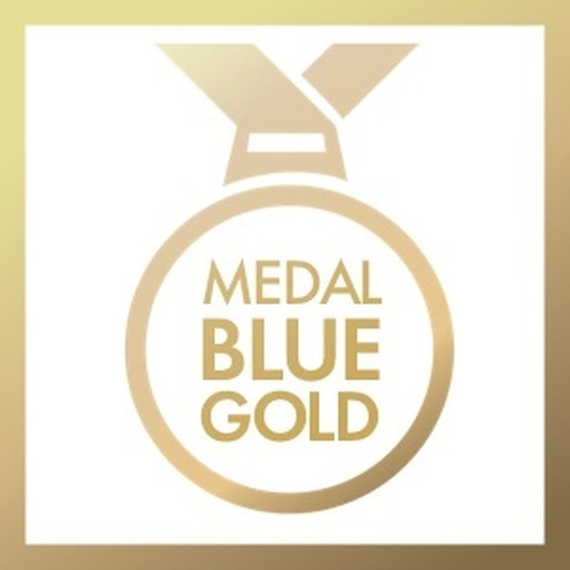Medal Blue Gold
